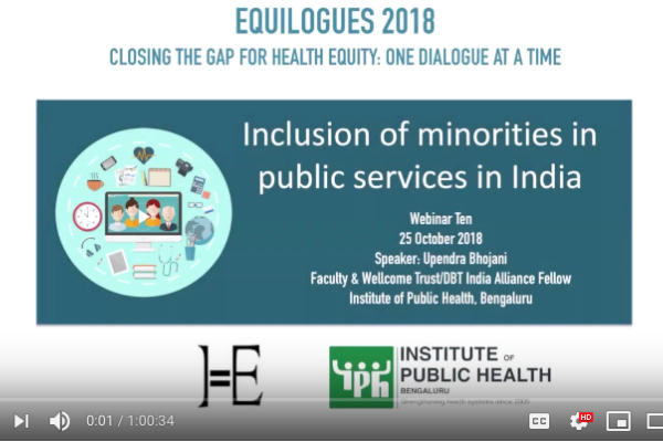 Inclusion of minorities in public services in India by Upendra Bhojani