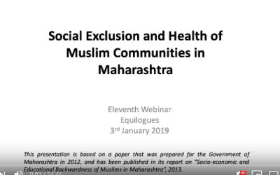 Social exclusion and health of Muslim communities in Maharashtra by Sana Contractor