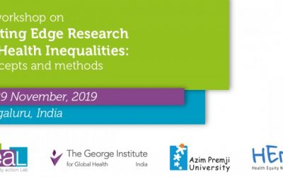 Workshop on cutting edge research on health inequalities: Concepts & methods
